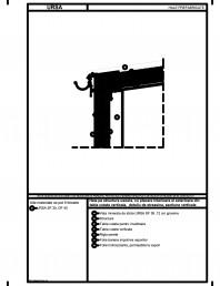 Hala pe structura usoara cu placare interioara si exterioara din tabla cutata verticala detaliu de streasina