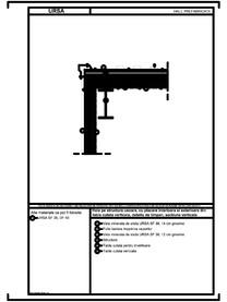 Hala pe structura usoara, cu placare interioara si exterioara din tabla cutata verticala, detaliu de timpan, sectiune verticala URSA