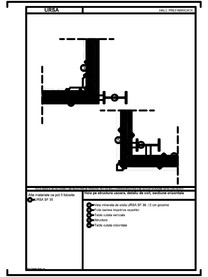 Hala pe structura usoara, detaliu de colt, sectiune orizontala URSA