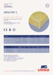 Placi usoare din vata minerala de sticla URSA - FDP 2