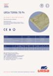 Placi din vata minerala hidrofobizata URSA - TERRA 78 Ph
