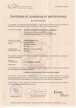 Certificat de performanta URSA -  FDP 5,  TSP/Ge, DF Acoustic