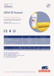 Saltea usoara din vata minerala de sticla URSA - DF Acoustic