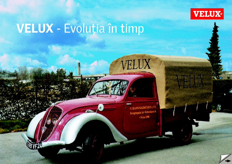 Pagina 1 - Evolutia in timp - Istoria Companiei din 1942 si pana in prezent VELUX Catalog, brosura...