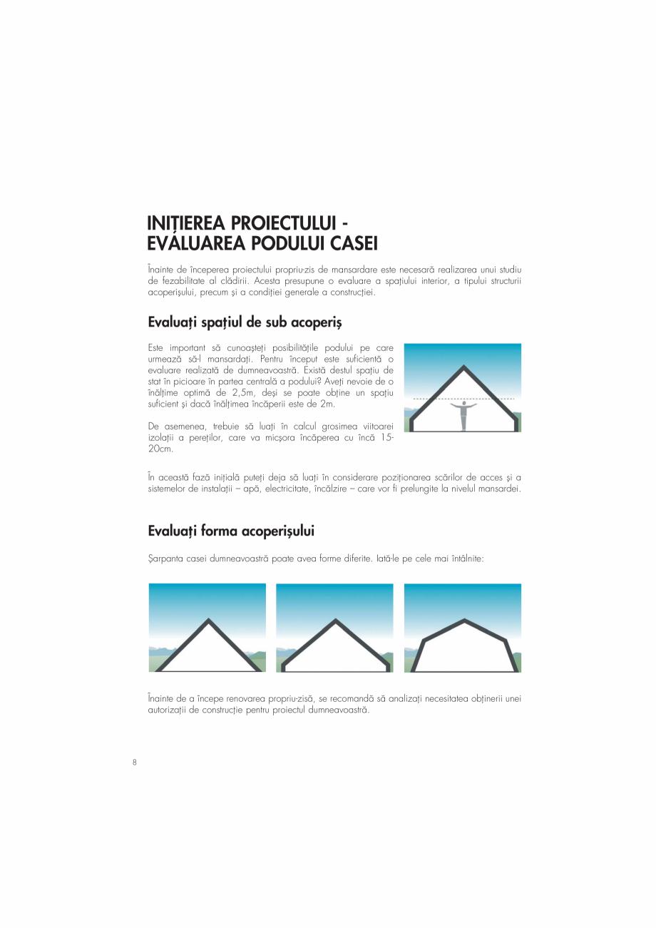 Pagina 8 - Ghid de renovare pentru podul casei VELUX Instructiuni montaj, utilizare Romana n˛ie...
