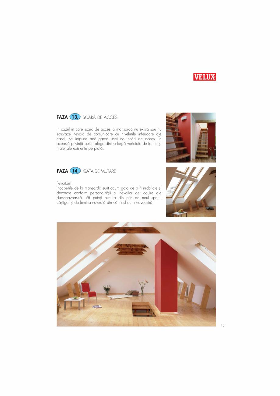 Pagina 13 - Ghid de renovare pentru podul casei VELUX Instructiuni montaj, utilizare Romana 'nd...