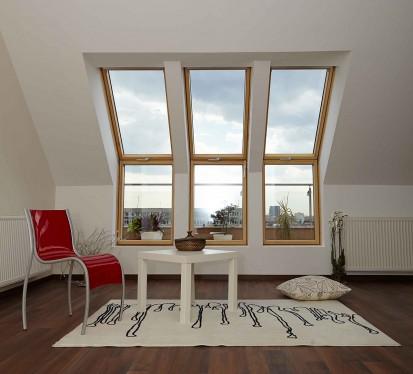 Exemplu de fereastra mansarda folosita ca iesire pe terasa Iesire terasa Iesire pe terasa