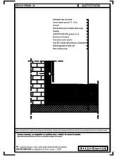 Terasa inversata, cu vegetatie cu inaltime mica -detaliu de racord la perete AUSTROTHERM