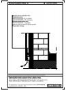 Perete de zidarie, placat cu panouri de lemn - detaliu de soclu