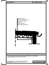 Terasa necirculabila, pe structura usoara - detaliu de atic, racord la jgheab AUSTROTHERM