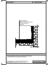 Terasa necirculabila, pe structura usoara - detaliu de racord la perete AUSTROTHERM