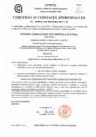 Certificat de constanta a performantei pentru produse fabricate din vata minerala de sticla ISOVER