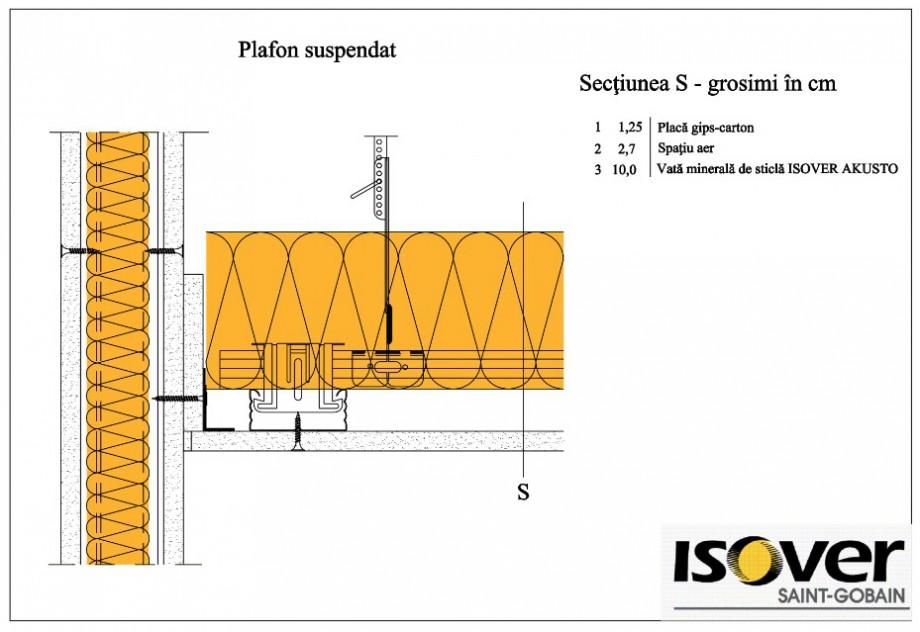 Pagina 1 - CAD-PDF Plafon suspendat ISOVER Detaliu de montaj AKUSTO