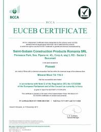 Certificat EUCEB pentru vata minerala