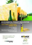 Declaratie de mediu pentru vata de sticla ISOVER - FORTE (ROLA), SUPER PROFI, UNIROLL PLUS