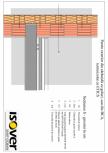Perete exterior din caramida sau BCA - sistem ETICS ISOVER