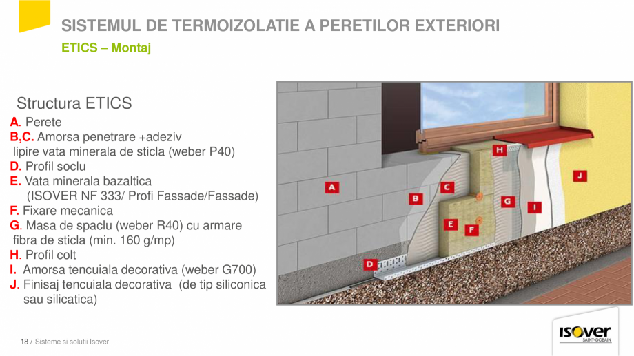 Pagina 16 - Prezentare sistem ISOVER ETICS -Termoizolare pereti exteriori ISOVER Catalog, brosura...