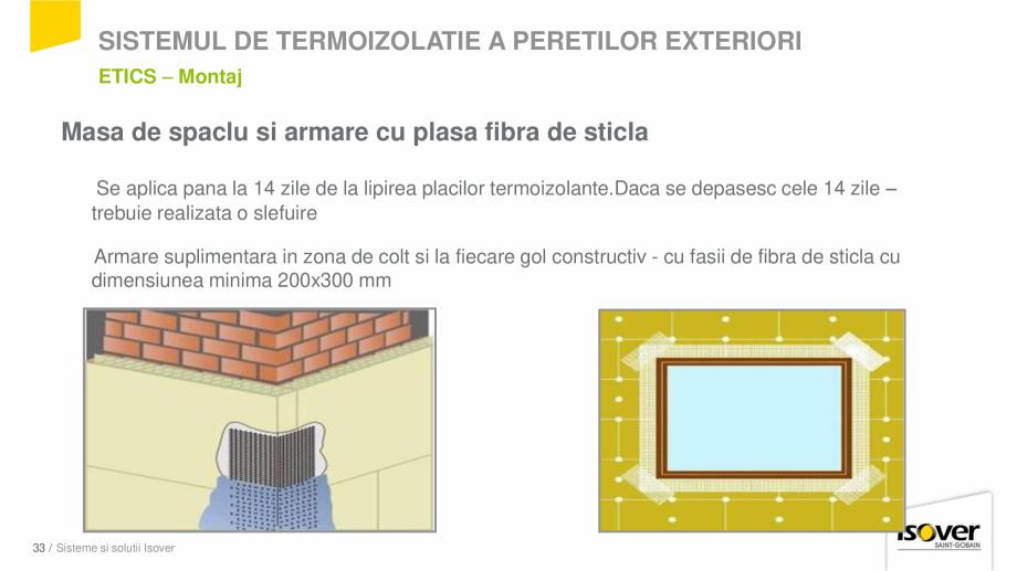 Pagina 31 - Prezentare sistem ISOVER ETICS -Termoizolare pereti exteriori ISOVER Catalog, brosura...