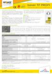 Specificatii tehnice pentru vata minerala  bazaltica ISOVER - TF PROFI