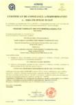 Certificat de constanta a performantei pentru vata minerala bazaltica - nr 1840-CPR-99 91 EC 0114-07 ISOVER