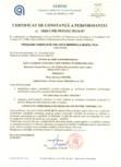 Certificat de constanta a performantei pentru vata minerala bazaltica ISOVER - PLN