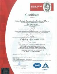 Certificat ISO 14001:2016