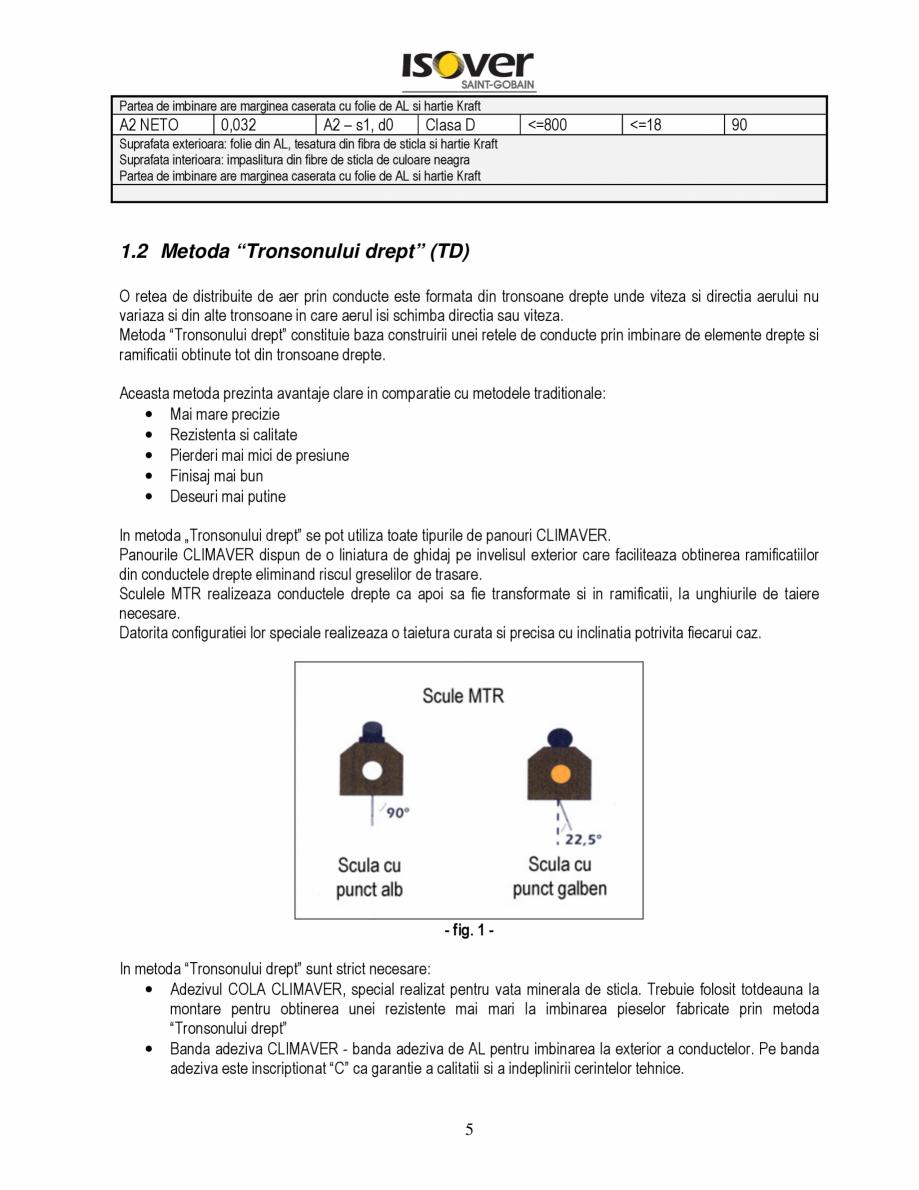 Pagina 5 - Manual de instalare a canalelor de aer autoportante Climaver ISOVER Climaver A2 Neto,...