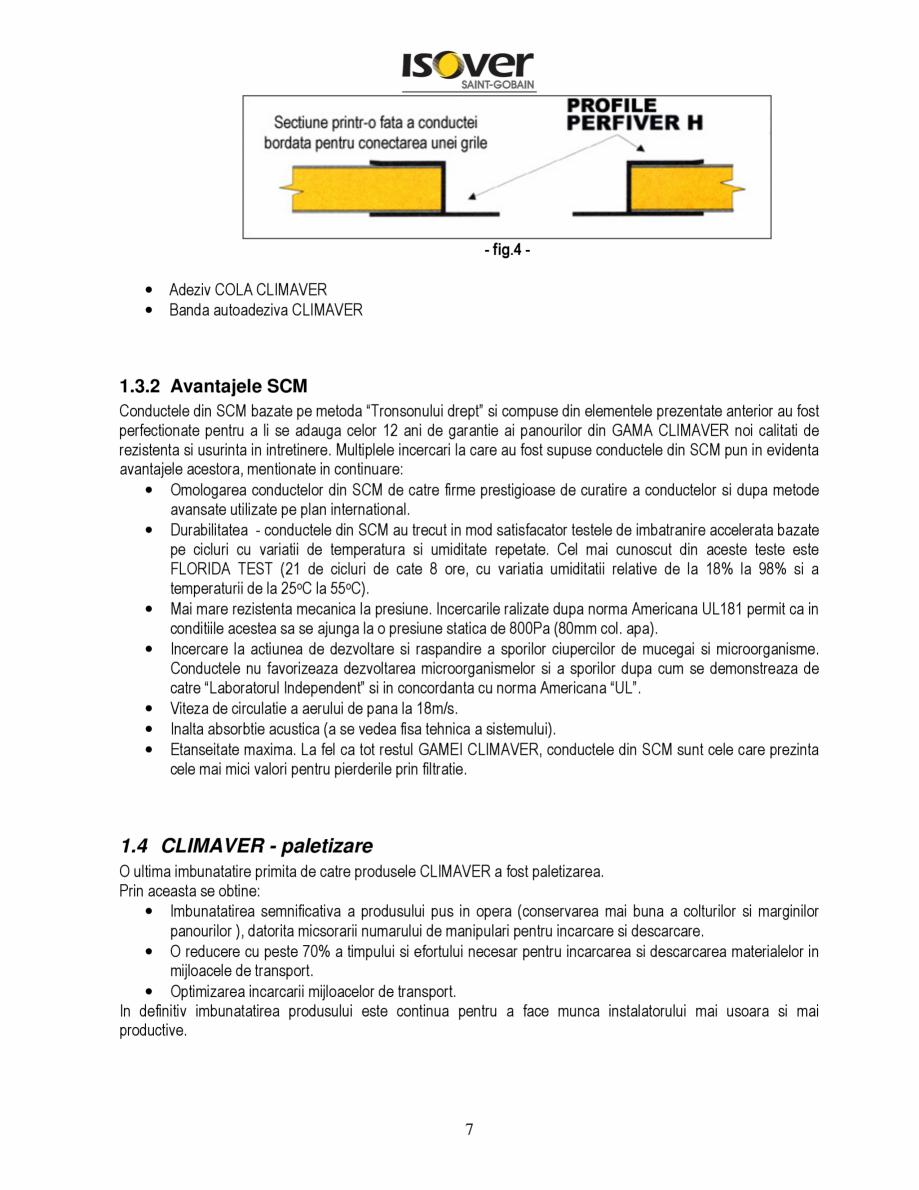 Pagina 7 - Manual de instalare a canalelor de aer autoportante Climaver ISOVER Climaver A2 Neto,...