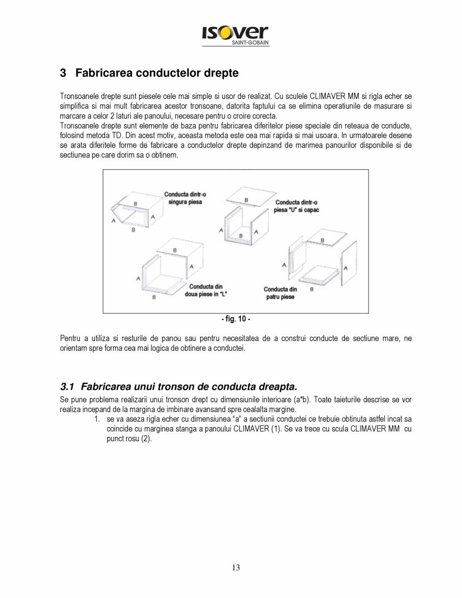 Pagina 13 - Manual de instalare a canalelor de aer autoportante Climaver ISOVER Climaver A2 Neto,...