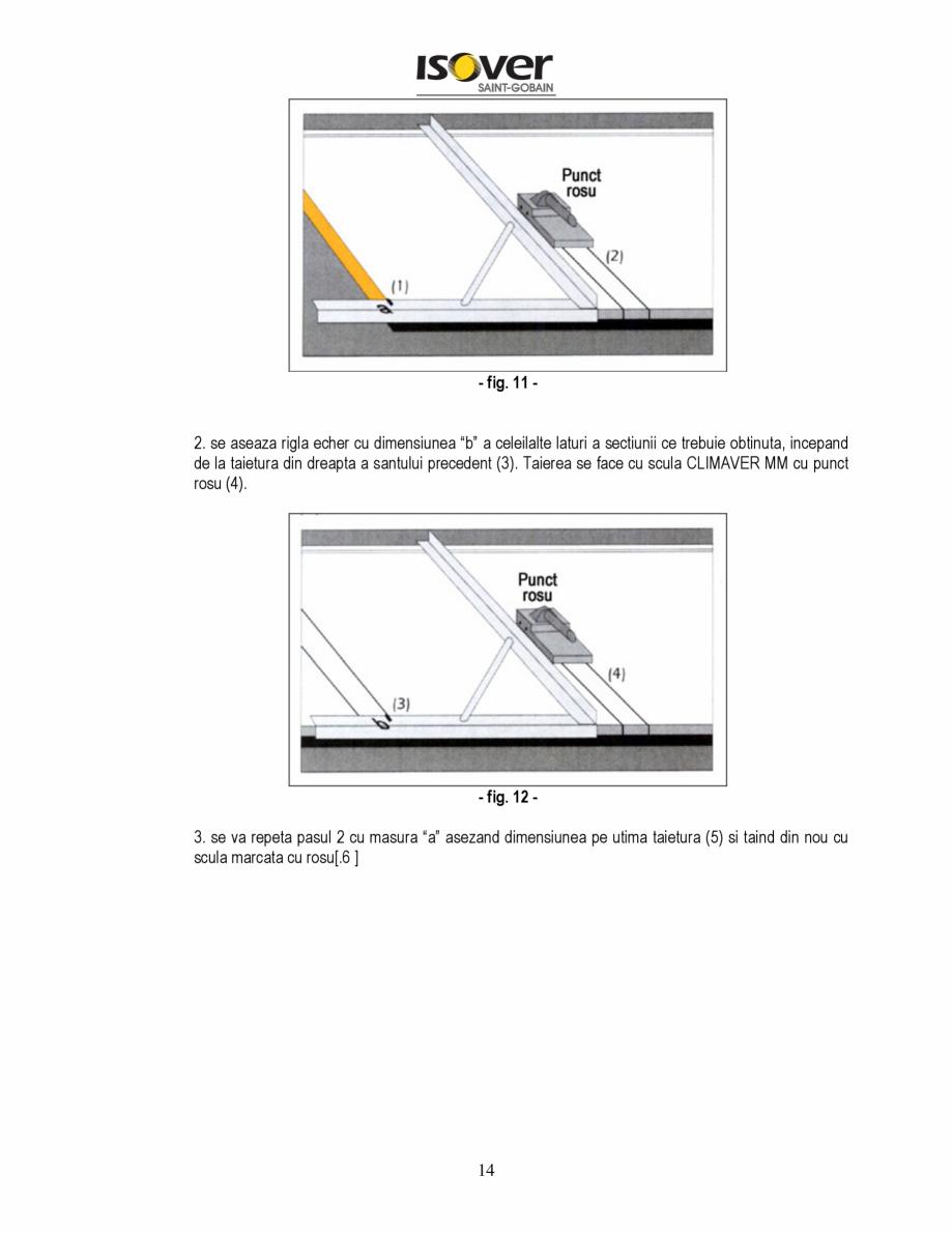Pagina 14 - Manual de instalare a canalelor de aer autoportante Climaver ISOVER Climaver A2 Neto,...