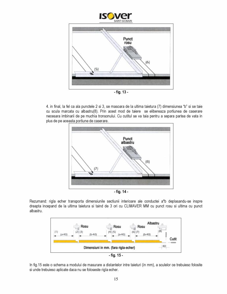 Pagina 15 - Manual de instalare a canalelor de aer autoportante Climaver ISOVER Climaver A2 Neto,...