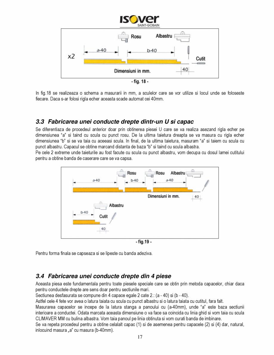 Pagina 17 - Manual de instalare a canalelor de aer autoportante Climaver ISOVER Climaver A2 Neto,...