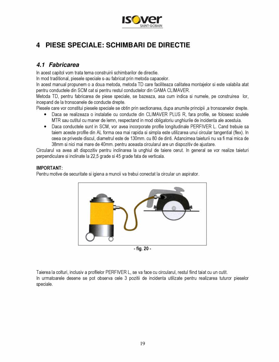 Pagina 19 - Manual de instalare a canalelor de aer autoportante Climaver ISOVER Climaver A2 Neto,...