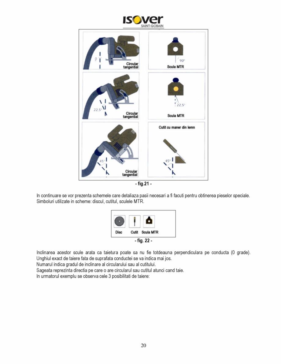 Pagina 20 - Manual de instalare a canalelor de aer autoportante Climaver ISOVER Climaver A2 Neto,...