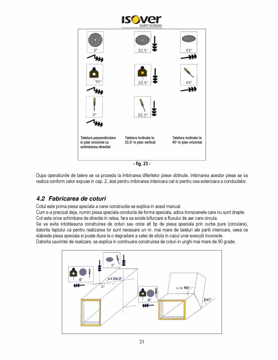 Pagina 21 - Manual de instalare a canalelor de aer autoportante Climaver ISOVER Climaver A2 Neto,...