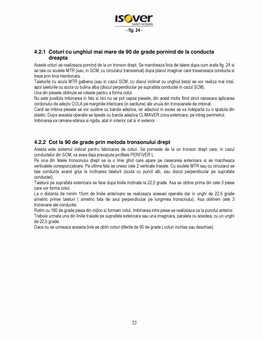 Pagina 22 - Manual de instalare a canalelor de aer autoportante Climaver ISOVER Climaver A2 Neto,...