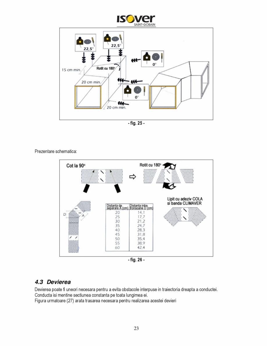Pagina 23 - Manual de instalare a canalelor de aer autoportante Climaver ISOVER Climaver A2 Neto,...