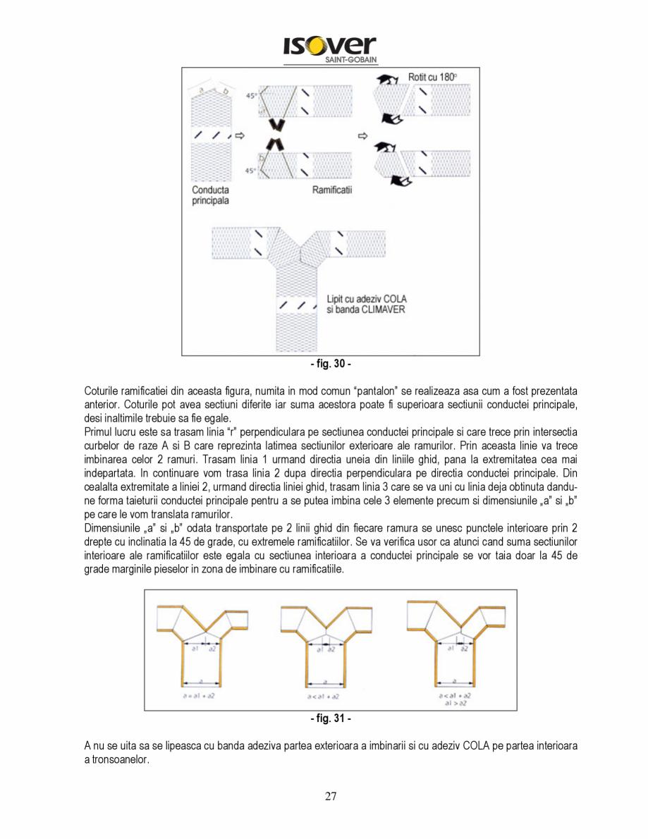 Pagina 27 - Manual de instalare a canalelor de aer autoportante Climaver ISOVER Climaver A2 Neto,...