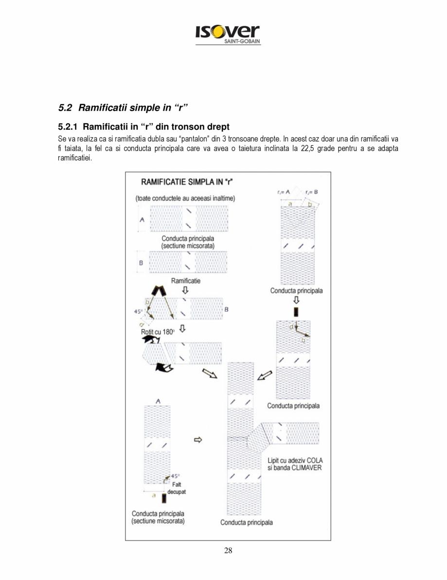 Pagina 28 - Manual de instalare a canalelor de aer autoportante Climaver ISOVER Climaver A2 Neto,...