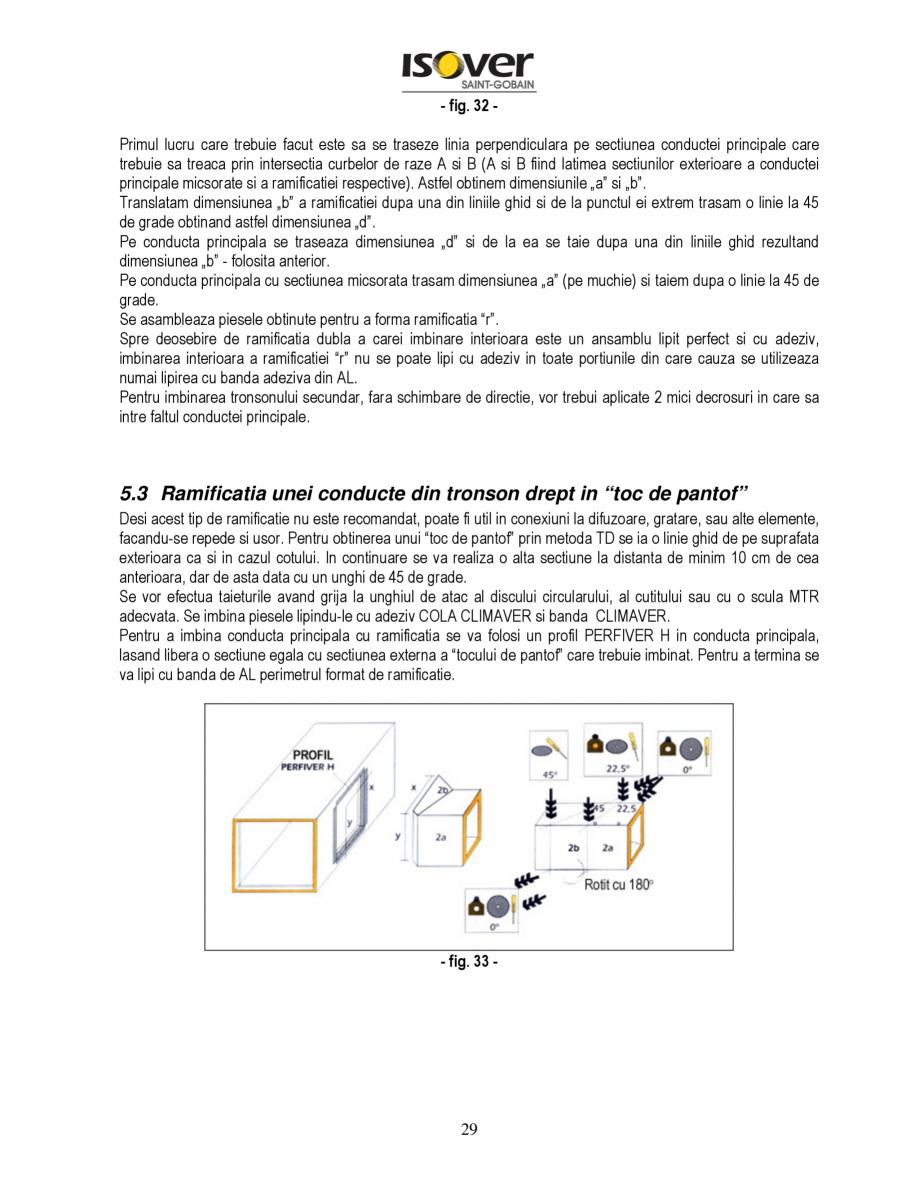 Pagina 29 - Manual de instalare a canalelor de aer autoportante Climaver ISOVER Climaver A2 Neto,...