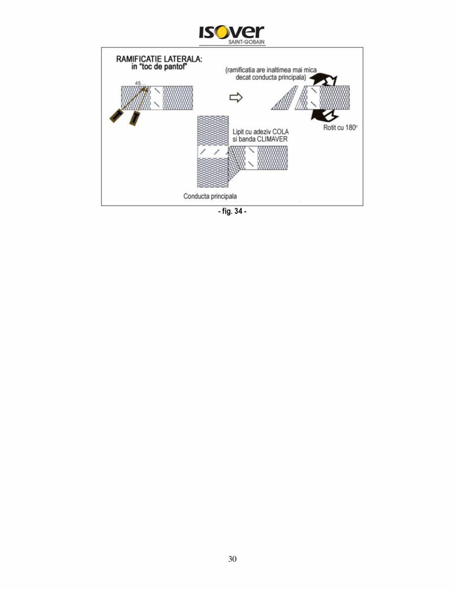 Pagina 30 - Manual de instalare a canalelor de aer autoportante Climaver ISOVER Climaver A2 Neto,...