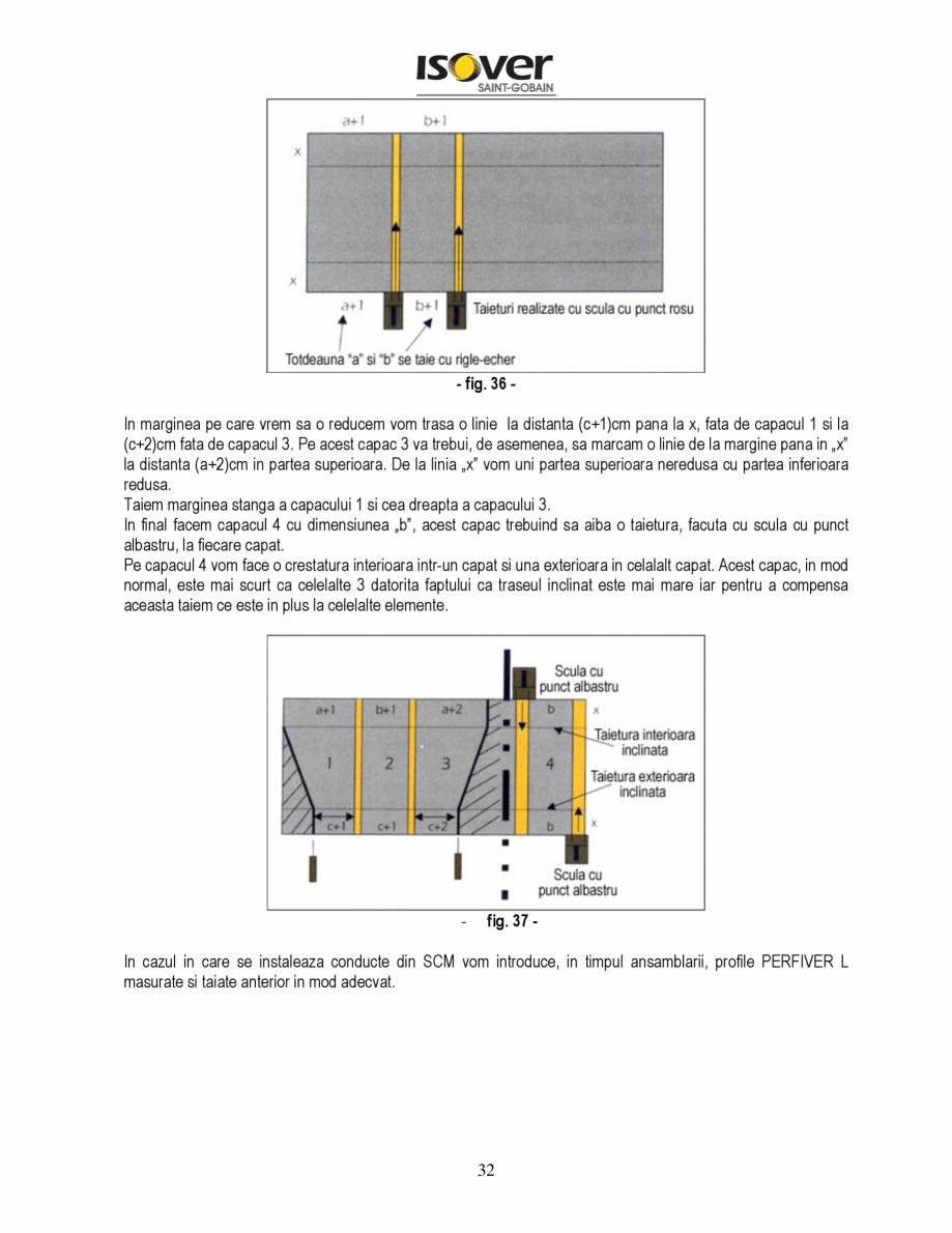 Pagina 32 - Manual de instalare a canalelor de aer autoportante Climaver ISOVER Climaver A2 Neto,...