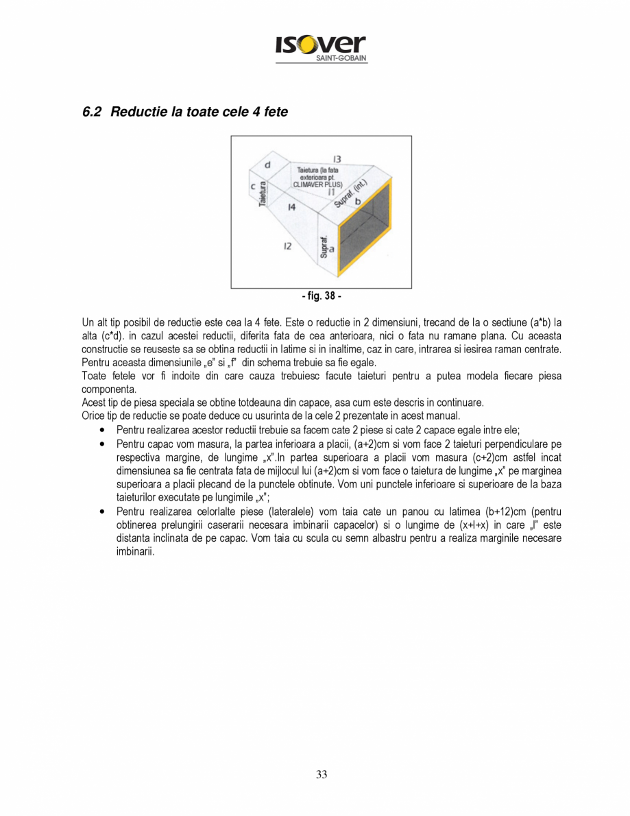 Pagina 33 - Manual de instalare a canalelor de aer autoportante Climaver ISOVER Climaver A2 Neto,...