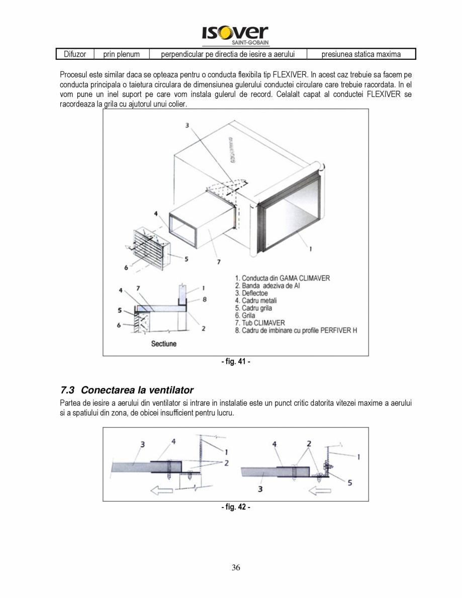Pagina 36 - Manual de instalare a canalelor de aer autoportante Climaver ISOVER Climaver A2 Neto,...