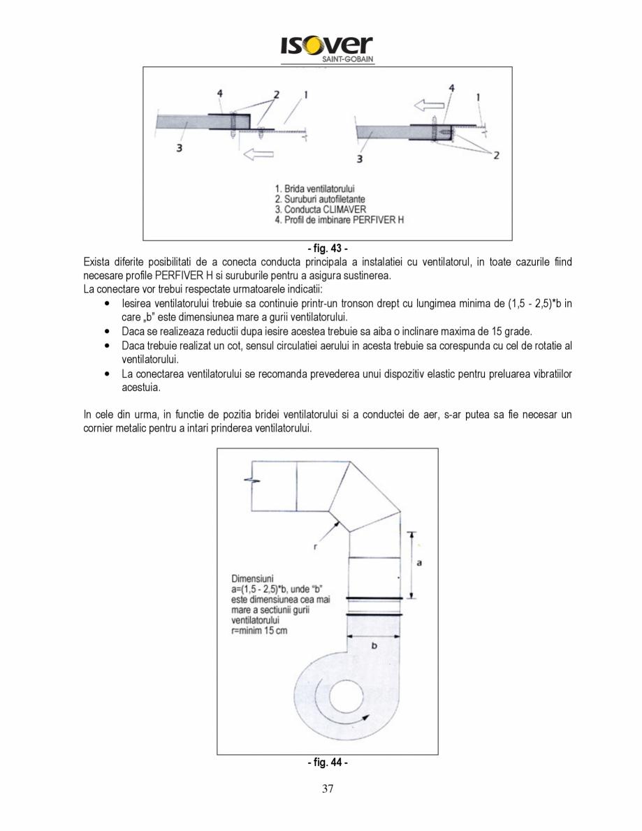 Pagina 37 - Manual de instalare a canalelor de aer autoportante Climaver ISOVER Climaver A2 Neto,...