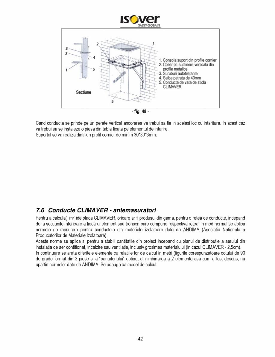 Pagina 42 - Manual de instalare a canalelor de aer autoportante Climaver ISOVER Climaver A2 Neto,...