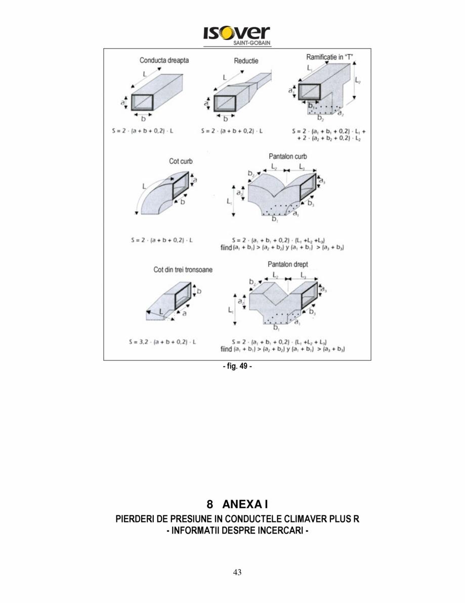 Pagina 43 - Manual de instalare a canalelor de aer autoportante Climaver ISOVER Climaver A2 Neto,...