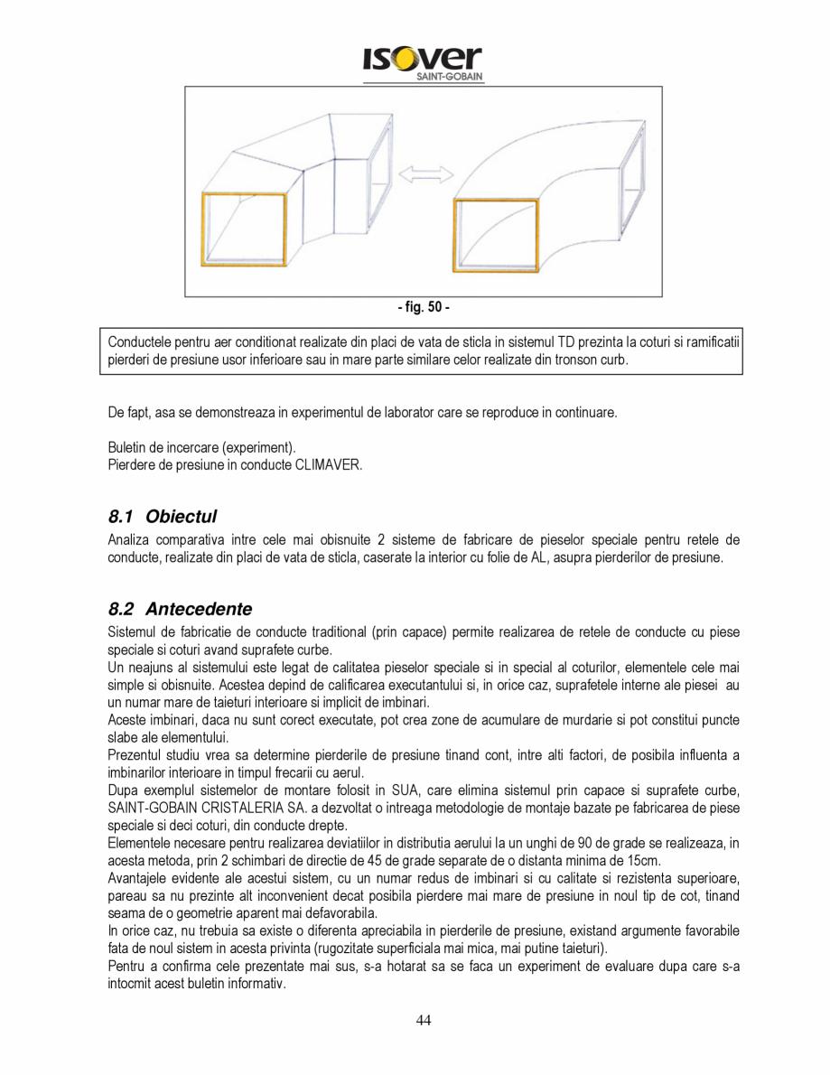 Pagina 44 - Manual de instalare a canalelor de aer autoportante Climaver ISOVER Climaver A2 Neto,...