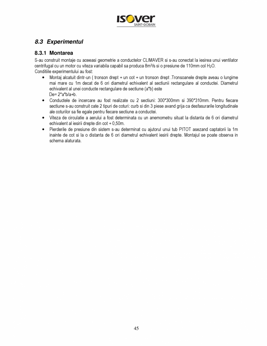 Pagina 45 - Manual de instalare a canalelor de aer autoportante Climaver ISOVER Climaver A2 Neto,...