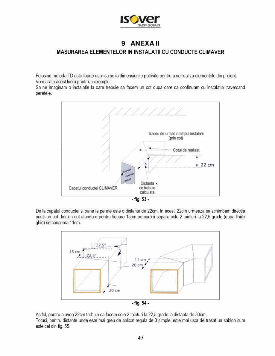 Pagina 49 - Manual de instalare a canalelor de aer autoportante Climaver ISOVER Climaver A2 Neto,...